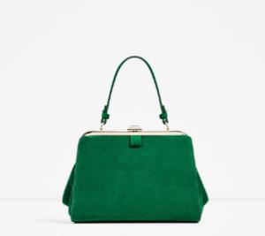 green-zara-bag