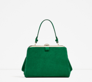 green-zara-bag