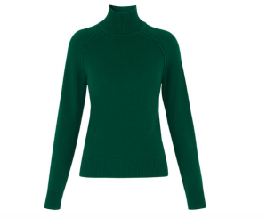 whistles-green-jumper