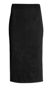 hm pencil skirt balck stretch