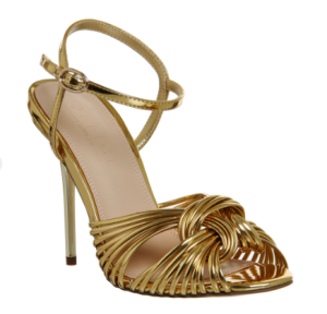 office gold sandal