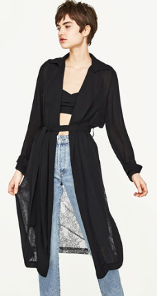 zara wwrap coat lace