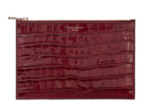 Aspinal of London Bordeaux croc skin