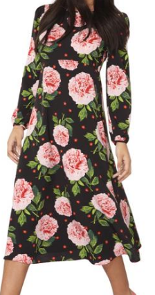 dorothy perkins oval shape empire line dress
