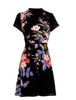 john lewis floral skater dress