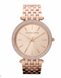 rose gold mk watch