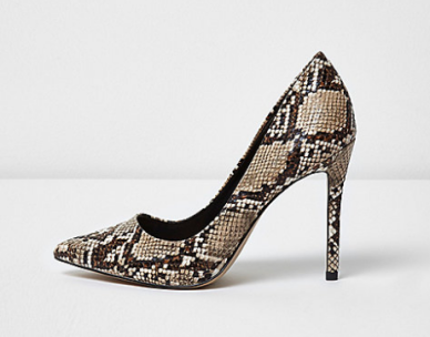 snakeskin shoes riverisland