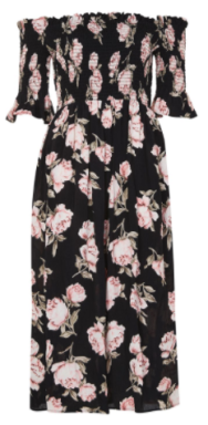 topshop floral off the shoulder