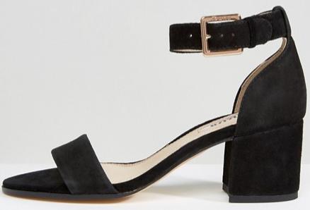 dune black block heels sandals