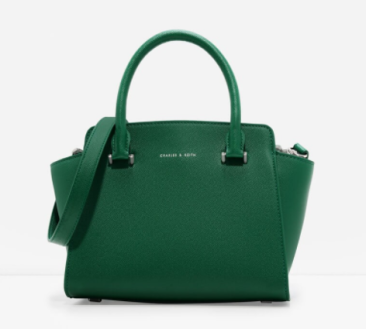 green charles and keith bag