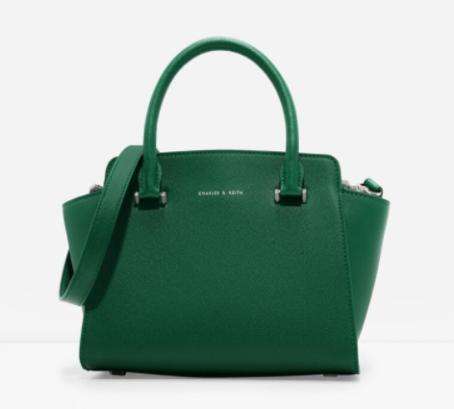 green charles and keith bag