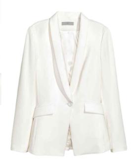 H&M Ivory blazer