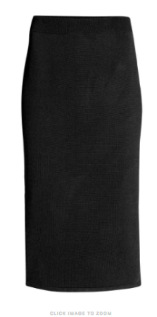 hm jeresey pencil skirt
