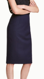 hm pencil skirt blue