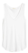 hm v neck white vest