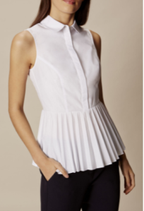 KM peplum pleat shirt