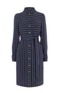 km pinstripe shirt dress