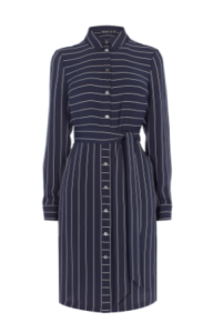 km pinstripe shirt dress