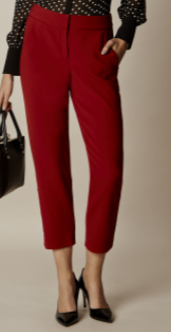 km red capri pant