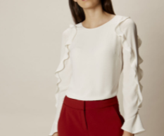 KM ruffle sleev top