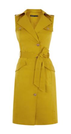 km yellow sleeveless jacket