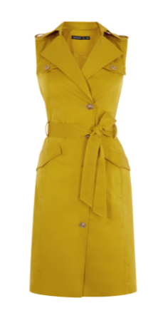 km yellow sleeveless jacket