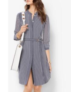 MK stripe shirt dress