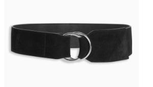 Next black waist belt