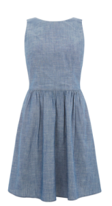 oasis denim skater dress