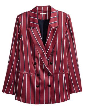 striped blazer hm