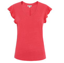 whistles coral ruffle top