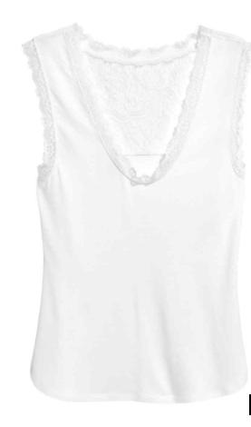 white hm vest top