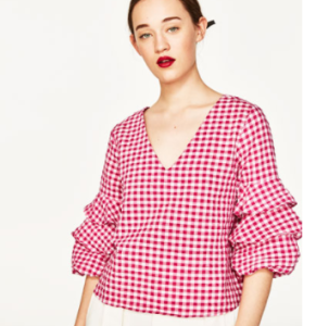 ZARA gingham top