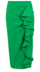 green ruffle skirt topshop