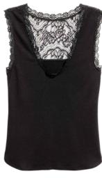hm black lace vest