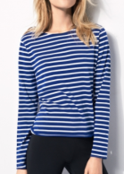 winser blue stripe top