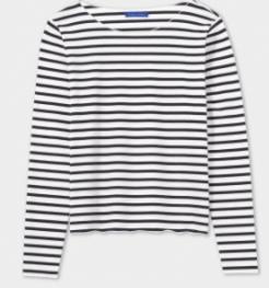 winser navy stripe t