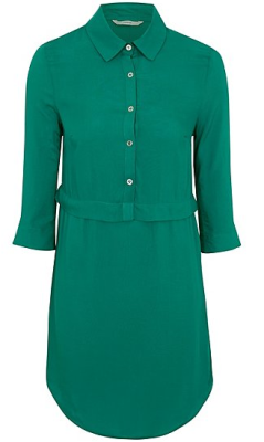 george teal shirt dress