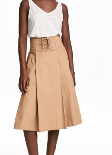 hm a line skirt
