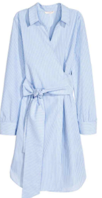 hm stripe shirt dress