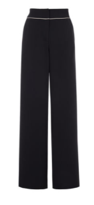 km contrast piping pants