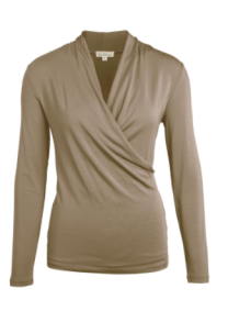 kw wrap top taupe