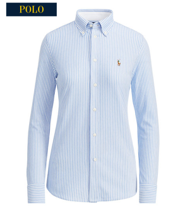polo blue stripe shirt