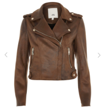 river island biker brown
