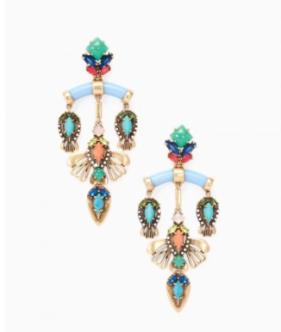stelladot chandelier earrings colourful