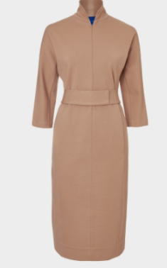 winser camel belted dress