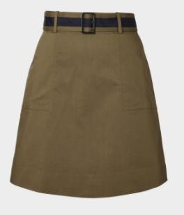winser khaki a line skirt