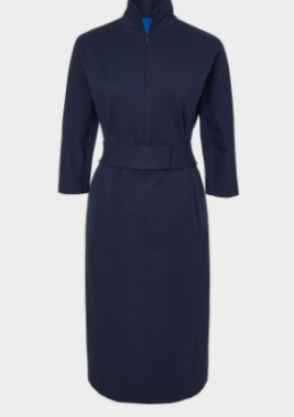 winser navy belted dress