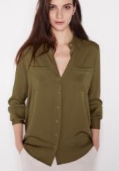winser silk shirt khaki