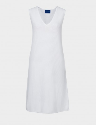 winser white ve neck dress